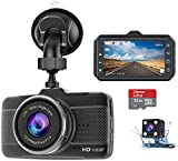 Claoner Dash Cams for Cars Front and Rear 1080P Full HD Dashcam,