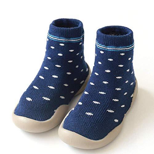 Gogh Verdikte babysokken, kleinkind-jongens-babysokken, meisjes-slipper sokken met super zachte rubberen zool, anti-slip, keuze uit vijf kleuren, voor 1~3 Ages