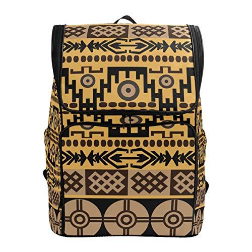 FANTAZIO Rucksack, afrikanischer Teppich Textur, Laptop, Outdoor-Rucksack, Reisen, Wandern, Camping, Freizeit-Rucksack, groß