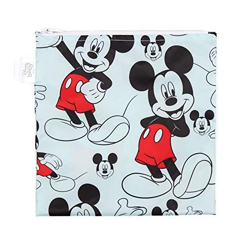 Bumkins Sandwich Bag / Snack Bag Disney Reusable Washable Food Safe BPA Free 7x7 – Mickey Mouse