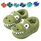 Fadezar Zapatillas De Estar por Casa para Niñas Niños Invierno Pantuflas Animales Antideslizantes Cálido Slippers Verde 23/24