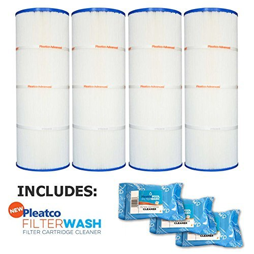 Price comparison product image Pleatco Cartridge Filter PA75SV-PAK4 Hayward C-570 SwimClear C3020 Super-Star-Clear C3000 C3000S (stainless steel) Sta-Rite PRC 75 open w / molded gasket CX570-XRE 25200-01755 w / 3x Filter Washes