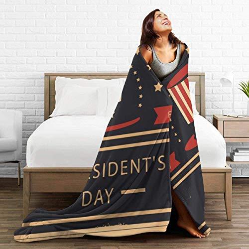 AEMAPE Throw Blanket Alfombra térmica del día del Presidente Cubrecamas de Coche para Mujer Colchoneta para Dormir de Doble Cara Funda de Franela para Invierno 50 'x 60'