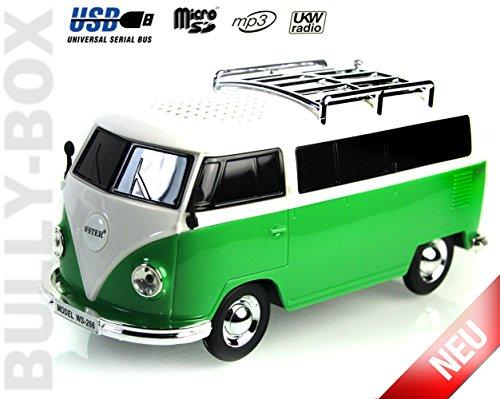 Nostalgie Bully - Box   Bulli Bus T1 Modell  Radio  GRÜN 2GB VW USB Stick  Deutsche Bedienungsanleitung