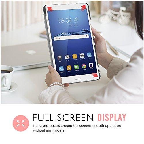 MoKo Huawei MediaPad M3 8.4 Hülle - Ultra Slim Lightweight Schutzhülle Smart Cover Standfunktion für Huawei MediaPad M3 8.4 2016 Tablet-PC perfekt geeignet, Schwarz - 5