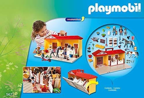 Écurie Chevaux Transportable 2 Enclos Playmobil - 5671 - 1