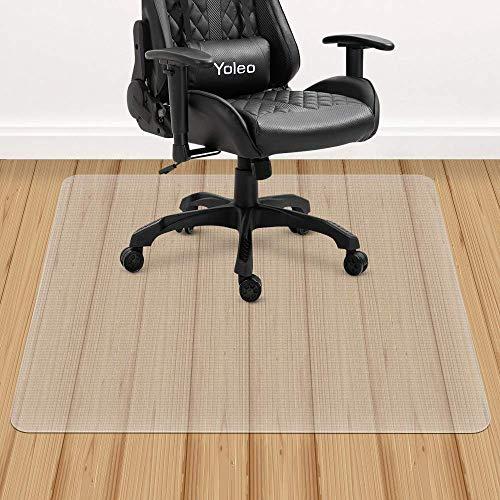 YOLEO Bodenschutzmatte transparent rutschfest 2 Größe Bürostuhl Schreibtischstuhl Unterlage wasserdicht hochwarmfest Kinderfreundlich für Hartböden Fliesen Parkett usw (120x90 cm)
