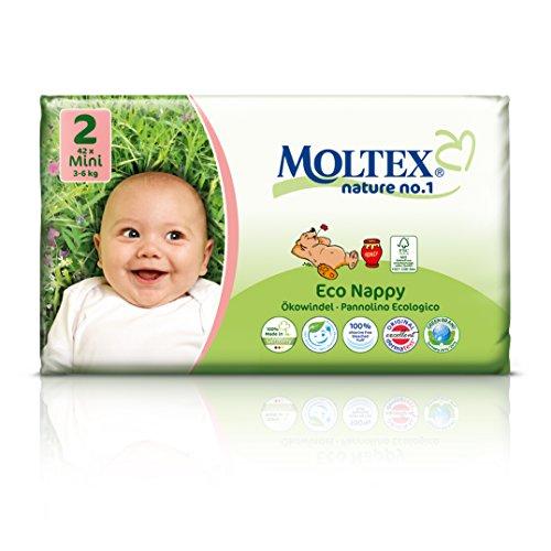 MOLTEX Nature No1 Öko-Windeln Bär Baby Nappies (Mini Größe 2 (3-6 kg))