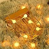 80 LED LED Cadena Luces USB alimentado, Fulighture 29.5ft/9M Decorativas Guirnaldas Luminosas para Exterior, Interior, Jardines, Casas, Boda, Fiesta de Navidad, Blanca Cálida