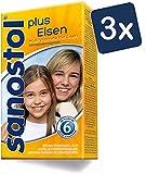 Sanostol plus Eisen: Multi-Vitamine für Kinder ab 6 Jahren und Erwachsene, mit Vitaminen und Eisen, 3x460ml