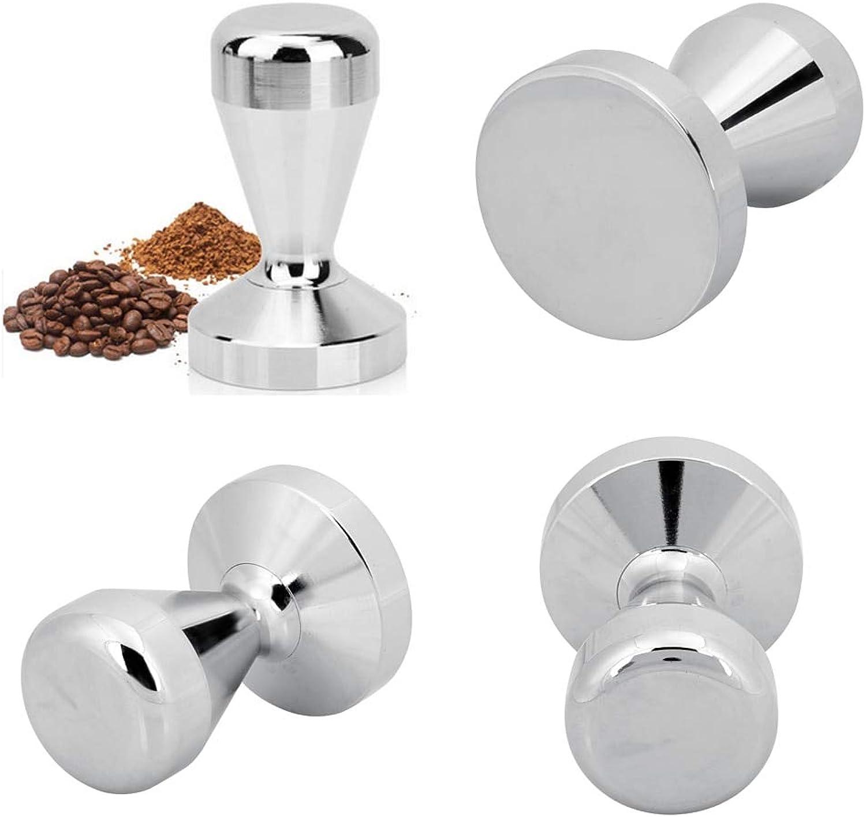 LySanSan  Stainless Steel Coffee Tamper 51 57.5mm Base Coffee Bean Pressure Powder Hammer Coffee Pressure Bar High Quality