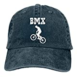 Men Women Distressed Yarn-Dyed Denim Baseball Cap BMX Bike Racing Trucker Cap