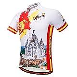 CYCOBYCO Herren Fahrrad Trikot kurz Sleeve, reflektierend, leicht, atmungsaktiv und schnell trocknend - Cy609S - S
