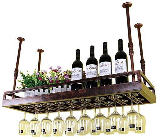 YLongFEI Wijnglas Rek Verstelbare Hoogte Stemware Racks Wandmontage Wijn Rek Opslag Rack Vintage Stijl woonaccessoires