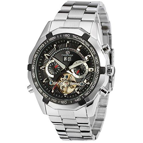 Forsining - Reloj de pulsera de lujo para hombre, automático, con calendario, mecanismo con tourbillon, FSG340M4T1