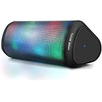 Clever Bright Portable Wireless Speakers with 7 LED Lights Modes (Black)