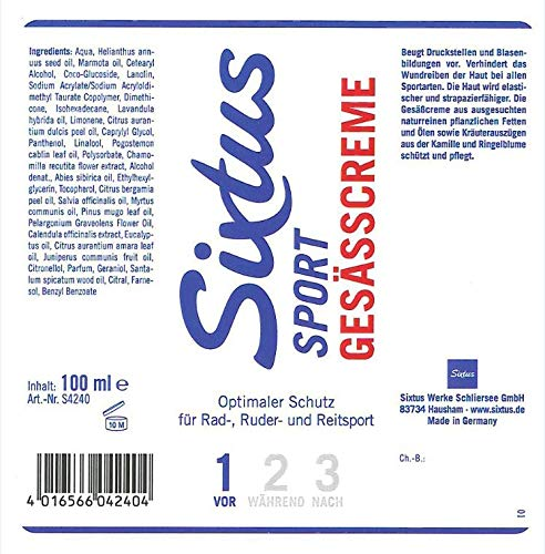 Sixtus Sport Gesäßcreme, weiß, 100 ml - 2