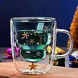 Miwaimao Landia Creativo Lindo Oso Taza de café Doble Vidrio Taza de cartón INS Jugo de Leche Animal Dama Día de San...