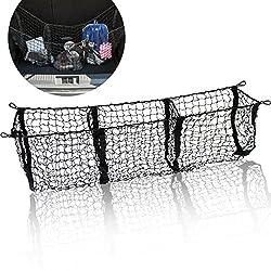 in budget affordable Zonetex Three Pocket Mesh Storage Net – Black Three Pocket Trunk Organizer