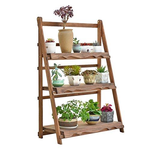 Étagère à fleurs multicouche 3 niveaux échelle fleur rétro étagères pliable en bois étagères jardin plante affichage pour plante Pots étagères/étagère support de rangement de jardin étagère intérieu