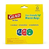 Glad Eco Friendly Dog Waste Bags | 8 Rolls of Lavender Scented Dog Waste Bags, 120 Bags in Total | Dog Waste Bags for All Dogs, Leak Proof and Strong Dog Poop Bags