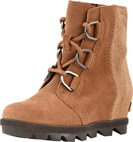 Sorel Kids Girl's Joan of Arctic Wedge II (Little Kid/Big Kid) Camel Brown/Cordovan 5 Big Kid