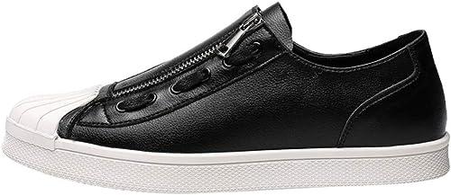 Yanyan Chaussures pour Hommes Microfibre Spring & Fall Bas-Top Chaussures Academy Deck chaussures Chaussures De Randonnée FashionDécontracté Daily Walking chaussures,noir,43