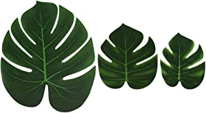 Stoundgee Artificial Palm Leaves, Tropical Plant Fuax Palm Leaves for Party, Wedding Hawaiian Luau Decoration