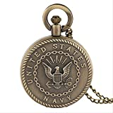 KaiKai WatchAntique Bolsillo de Cuarzo Larga del Bolsillo Necklacebronze Águila Hombre Colgante Regalo Relojes Mujeres (Color : Copper)