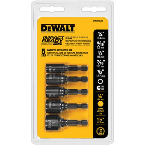 DEWALT Nut Driver Set, Impact Ready, Magnetic, 5-Piece (DW2235IR)