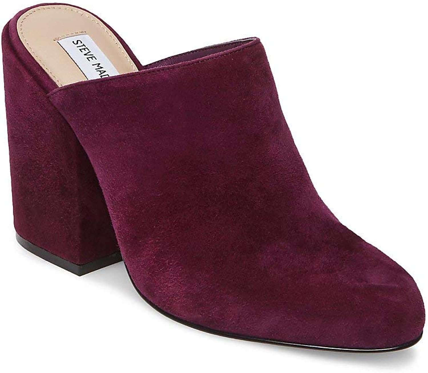 Steve Madden Womens Stela Suede Round Toe Mules