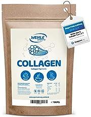 Collageen-poeder/collageen-hydrolysaat eiwitpoeder voor dagelijks gebruik in smoothies, shakes, sauzen, drankjes | Wehle Sports | Made in Germany nuttig voor het bindweefsel collageentype 1 2 3 1000g