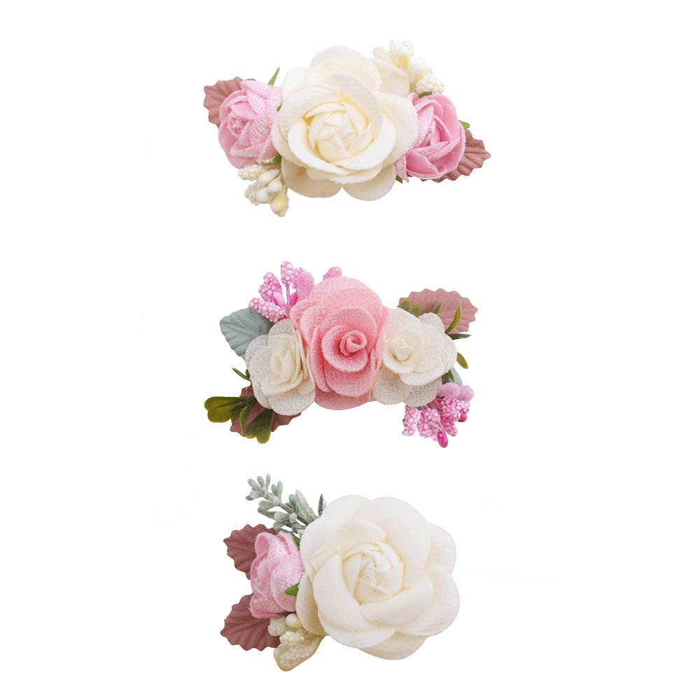 mligril Baby Girls Flower Hair Bows Sale item Cheap mail order shopping Clips-3pcs Allig Floral