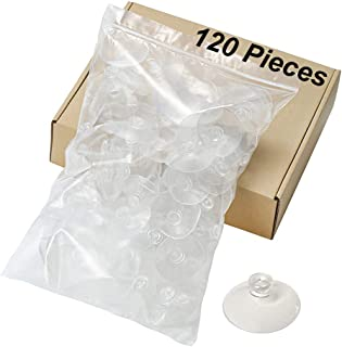 120 Pieces 50mm Clear Suction Cups Professional Strength Plastic Sucker Pads Without Hooks, Home Kitchen Car