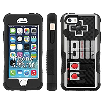 iPhone SE | 5 | 5S Phone Cover NES Video Game Controller- Flak Jacket Dual Armor with Kick-Stand for [iPhone SE | 5 | 5S] with [Kickstand and Holster]