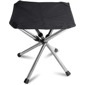 アウトドア チェア 伸縮式 TAKU STORE 折りたたみ椅子 4脚 軽量 480g&耐荷重120kg 釣り キャンプ用品 チェアー