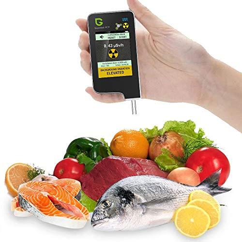 Greentest 6 in 1ECO 5 + Fischnitrat-Tester-Analysator, Strahlungsdetektor-Geigerzähler, Wasserzähler TDS PPM, Tester für Gemüse, Obst, Fisch, Fleisch für Lebensmittelsicherheit