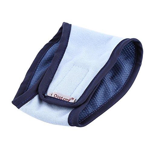 Fdit Banda Lavable de Vientre para Perro Animal Doméstico Pañales Masculinos de Perro Banda de Vientre Durable(Azul XS)