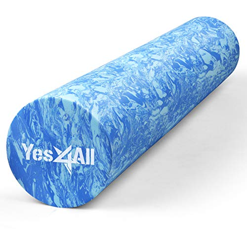 Yes4All Premium EVA Foam Roller - Best Firm & Smooth High Density Foam Rollers for Exercise, Perfect...
