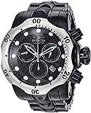 Invicta Men's Venom Quartz Watch with Stainless-Steel Strap, Black, 16 (Model: 23897)