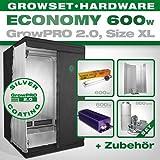 GrowPRO Growbox 2.0XL–Grow Set para Indoor Home Grow–600W Grow Set Eco