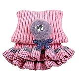 SINGOing Baby-Mädchen Strick-Schal Halstuch Fleece-Schal mit Klettverschluss Herbst Winter Unisex Baby Wolle Rundschal Schlauchschal Kinderschal Loopschal Baby Halstücher(2-8Jahre)