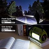 LE LED Handscheinwerfer 1000 Lumen, Wiederaufladbare CREE Akku Handlampe mit 3600mAh Powerbank, 10W Dimmbare Taschenlampe inkl. 3 Lichtmodi 2 Helligkeitsstufen, USB-Kabel für Notfall Camping usw. - 3