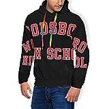 Scream Woodsboro High School Varsity Casquette de camionneur pour homme Mode Sweat à capuche Poches en velours - Multicolore - S