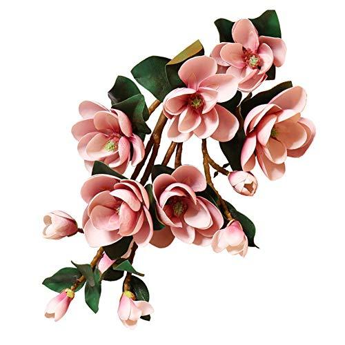ZJJZH Kunstmatige decoratieve bloemen magnolia bloem hoge kunstbloem woonkamer tv-kast vaas vervalste bloem decoratie bloem boom binnenbodem bloem 100 cm kunstbloemen & -planten.