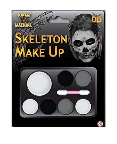 Generic Halloween Kostüm Zombie Skelett Hexe Teufel Untoten Make Up Palette mit Anwendung Pinsel