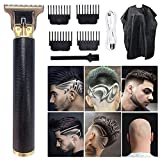 Electric Pro Li Outliner Clippers,USB Rechargeable Cordless Close Cutting T-Blade Trimmer for Men Close Cutting Wireless Barber Gapped Clippers(Black).