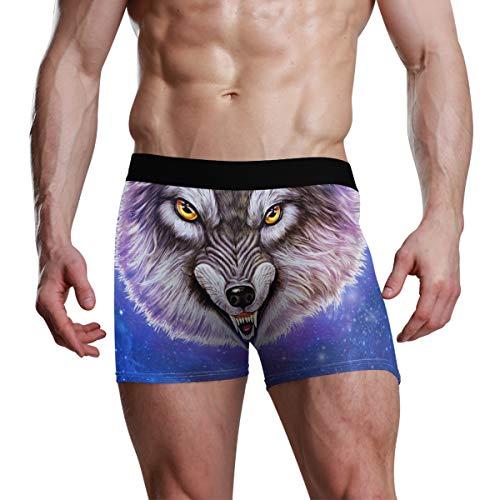 FFY GO Herren Boxershorts Eagle American Flag Baumwolle Unterwäsche Designer Slip atmungsaktiv eng Hipster für Jungen S Gr. M, B001