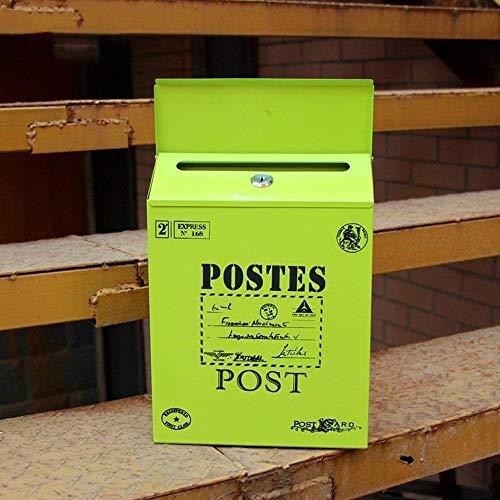 YONGYONGCHONG brievenbus waterdichte letters box brievenbus creatieve mailbox muurbrievenbus brievenbus tuin berichten groen mailbox veiligheidspostvak