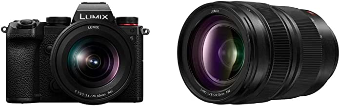 Panasonic LUMIX S5 Full Frame Mirrorless Camera (DC-S5KK) and LUMIX S Pro 24-70mm F2.8 L-Mount Interchangeable Lens (S-E2470)